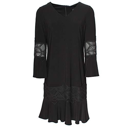 Frank Lyman Long Bell Sleeve Black Cocktail Dress 12 UK Black