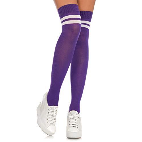Leg Avenue Women's Hosiery, Purple/White, One Size