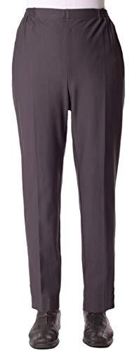 Seniorenmode24 Damen Viskose Seniorenhose Schlupfhose Größe 36/38 bis 54/56 mit viel Elasthan und Gummizug in Kurzgröße ideal für Leute die im Rollstuhl sitzen und für kräftige Beine (grau, 40/42)