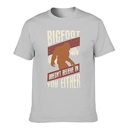 Camiseta para hombre con diseño retro con texto en alemán 'glaubt auch nicht an Dich Druck acogedoras camisas Gris plateado. XXL