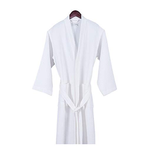 Heren katoenen gewaad, lichtgewicht effen kleur met een taille riem zakken Sauna Hotel Badjas