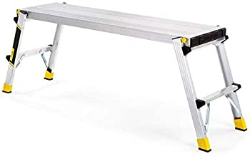 COLIBROX 47.25  x 12  x 20  Aluminum Slim-Fold Work Platform with 250 lb Load Capacity
