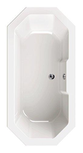 'aquaSu® 80188 1 Acryl-Badewanne scaLma 8 | Badewanne 180 x 90 cm | 8 Eckwanne | Bad | Badezimmer | Weiß