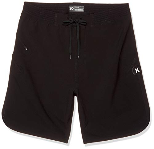 Hurley Phtm Hyperweave Max Solid - Pantaloncini da surf, 18' Nero 33'