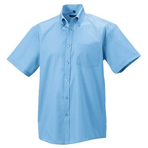 Russell Collection - Camisa de manga corta Diseño Ultimate Modelo Non-Iron Hombre caballero - Trabajo/Boda/Fiesta (Cuello 50cm/Azul cielo)