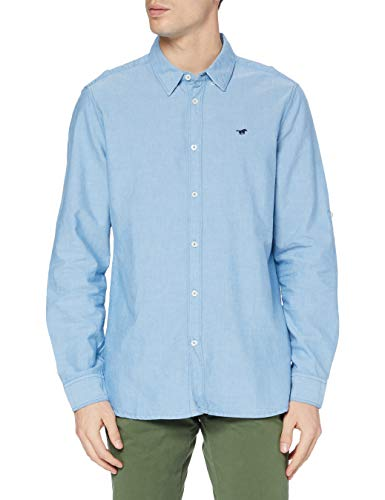 MUSTANG Herren Clemens Oxford Hemd, Blau (5317), S