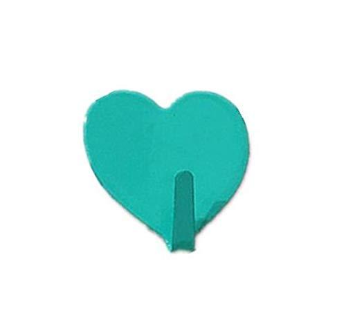 KWHY 10st familie haak muur RVS hart vorm romantische lijm keuken schoon kinderkamer deur Decor haak Holiday Gift, nieuwe Mint groen