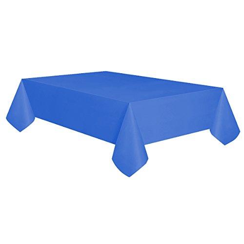 Allgala 12-Pack Premium Plastic Table Cover Medium Weight Disposable Tablecloth-12PK 54'x108'-Dark Blue-TC58206