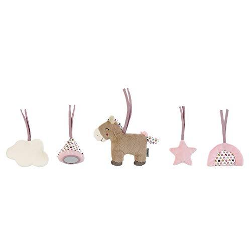 Sterntaler Figuras para colgar en el arco de madera, Pony Pauline, Rosa/Multicolor