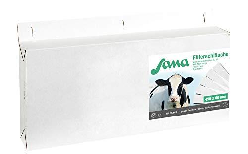 Kerbl Filtre à lait SANA 610 x 95 mm cousu, 75 g, 200 Pièces