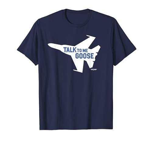 Adults Top Gun Talk To Me Goose Jet Silhouette T-Shirt, Men or WOmen, S to 3XL