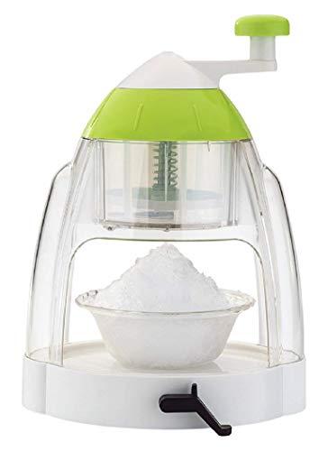 Kuber Industries Ice Gola Slush Maker Ice Snow Maker Machine with 3 Bowl, 1 Glass, 4 Sticks (Green) -CTKTC043173