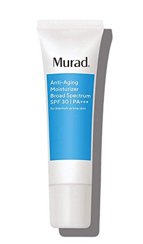 Murad Anti-Aging Acne Moisturizer with Broad Spectrum SPF 30 PA+++ - (1.7 oz), Ultra-Light Fast Absorbing Daily Moisturizer for Acne Prone Skin, Fights the Signs of Aging with Kombucha Defense