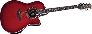 Ovation AX Series 2077AX-CCB Acoustic-Electric Guitar, Cherry Burst