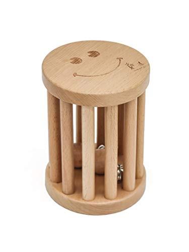 Rasseln baby Spielzeug Holz Spiel Greifling und Rollender Glöckchen Musik Montessori Pädagogisches Teether Rattle Toys Gym Sensorische kriechen Aktivität Kleinkind Jungen Mädchen Kinder, Buchenholz