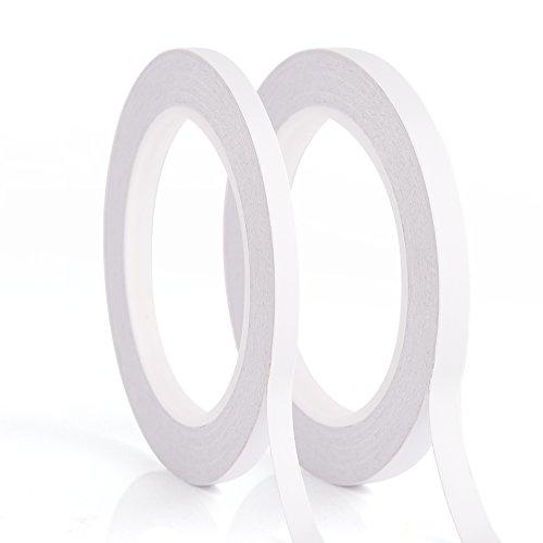 Preisvergleich Produktbild Kuuqa 2 Rollen Selbstklebendes doppelseitiges Klebeband zum Handwerksklasse Büro DIY mit 25 Meter pro Rolle(6mm und 9mm)