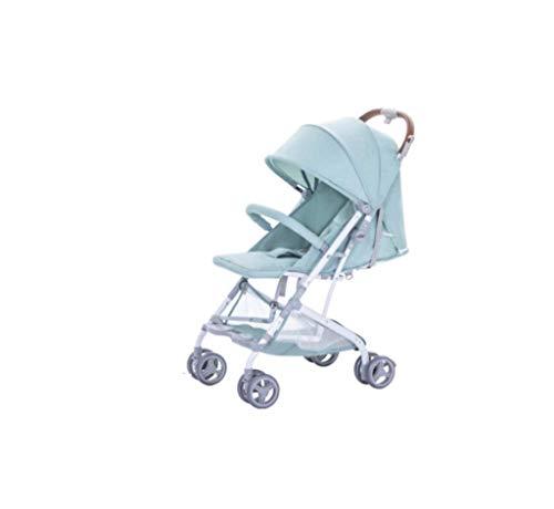 Kinderwagen, ultralicht, draagbaar, opvouwbaar, kan teruggeklapt worden, met paraplu, auto, buggy, vliegtuig, BB-wagen met vier wielen, schokbestendig, voor pasgeborenen.