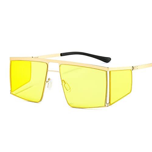 HAOMAO Diseñador de la marca Steampunk sin montura espejo gradiente cuadrado gafas de sol fotocromáticas para hombres y mujeres Punk Uv400 sombras gafas 3