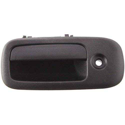 Door Handle for 2003-2014 Chevy Express 1500 Base Front Left Side Exterior Plastic Black w/Keyhole