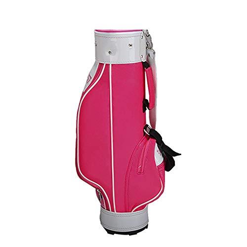 PQXOER Golftasche Rosa Kindergolftasche Leichtes Golf Travel Case Organizer Leichtes Golf Reiseetui for 3-12 Jahre altes Mädchen (Color : Girls, Size : L)