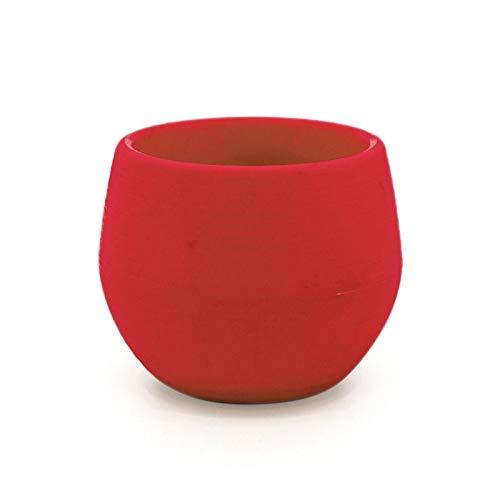 Heigmz Hp - Jarrón para piso, mini macetas de plástico con colores redondos y redondos, para jardín, decoración del hogar, oficina, macetas de plástico para suculentas (color: rojo)