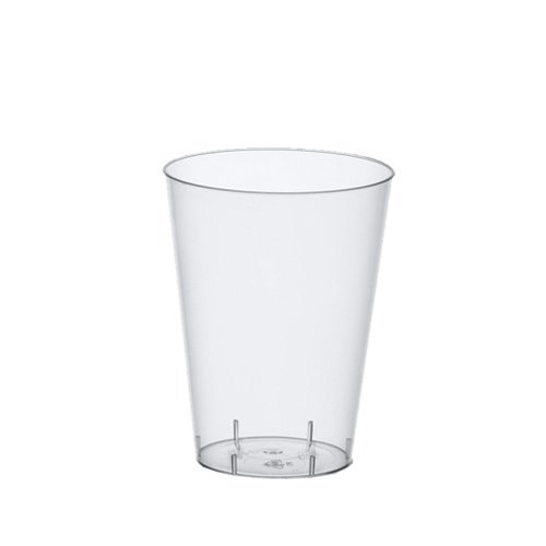 Papstar 12140 50 Trinkbecher Polystyrol 0.3 L, Ø 7.9 x 11.9 cm, glasklar