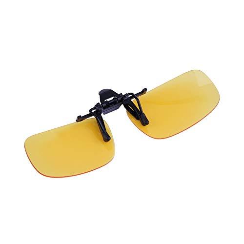 #N/V Gafas de sol de visión nocturna con clip para conducción con lentes abatibles, lentes antirayos UV 400, unisex, para mujeres y hombres