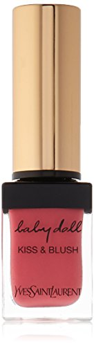 Yves Saint Laurent Baby Doll Kiss and Blush Lip Gloss for Women, No. 2 Rose Frivole, 0.33 Ounce (0.33 Ounce Lip Lacquer)