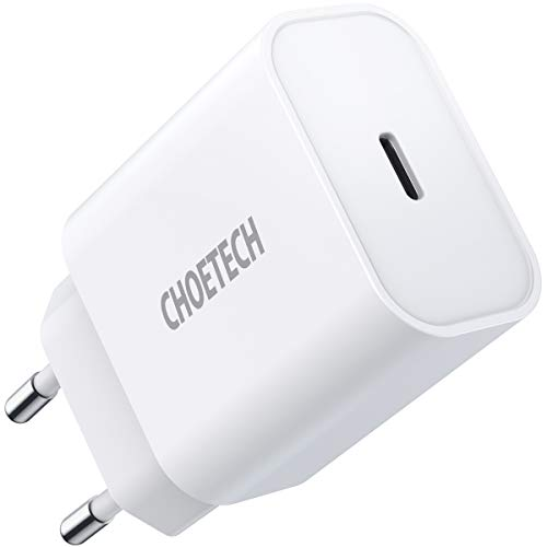 CHOETECH Caricatore USB C per iPhone,PD 20W Caricatore da Muro Power Delivery 3.0 Caricatore Tipo C per iPhone 12/Mini/12 Pro/11/11 Pro/Xs Max/Xr/X/8 Plus/SE,AirPods/Pro,Galaxy S20/S10/S9,iPad Pro/Air
