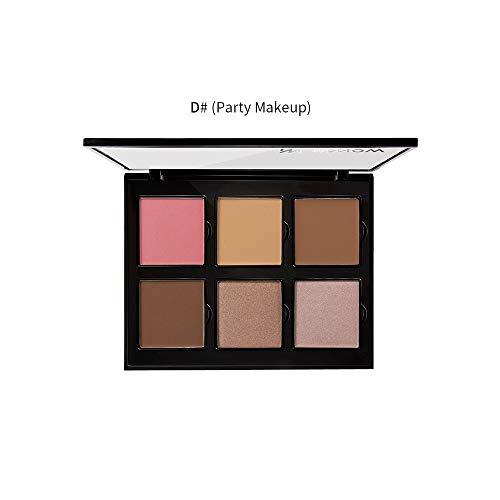 Miele Concealer haute brillance blush barquette imperméable six couleurs 6 couleurs de maquillage professionnel fard à paupières camouflage anti-cernes pour le visage CATHYOYO
