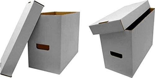 """Double thickness handles and bottom Cardboard Corrugated Materials Holds 35-40 Graded Comics 15.75"""" x 8.5"""" x 13"""""""