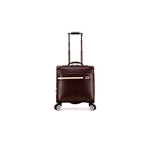 YNuo Wheeled Laptop Briefcase, Business Office Bag, Laptop Trolley Case, Pilot Travel Cabin Bag, Trolley Case, 18 Inches/Black Essential for travel. Large-capacity storage tool. (Color : Brown)