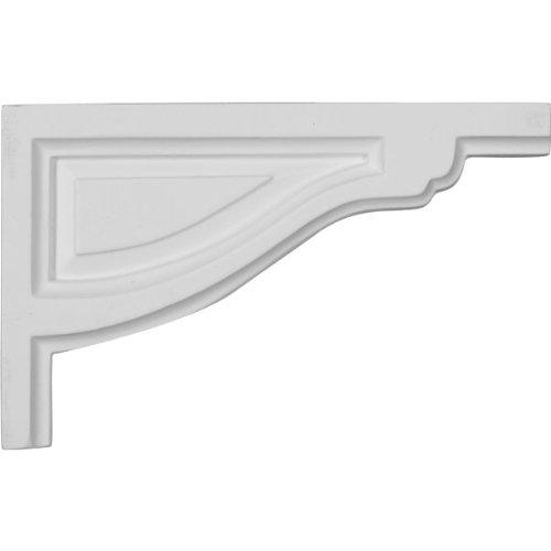 Ekena Millwork SB08X05TR-R Small Traditional Stair Bracket, Right, 8'W x 5'H x 1/2'D, Primed