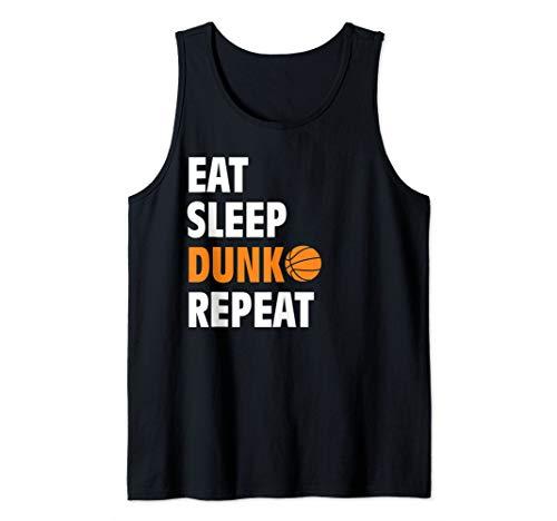 Eat Sleep Dunk Repeat Funny Basketball Bball Tank Top