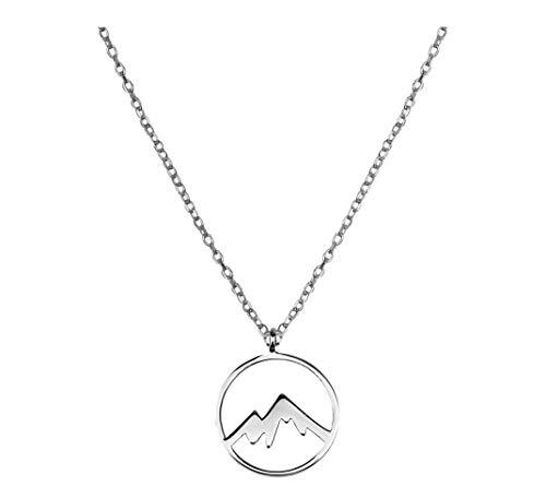 SOFIA MILANI Damen Halskette Berg Anhaenger Silber 50270