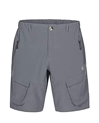 Little Donkey Andy Men's Stretch Quick Dry Cargo Shorts for Hiking, Camping, Travel Grey Size XL