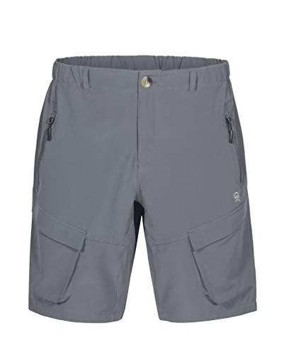 Little Donkey Andy Herren Leichte Schnelltrocknend Cargo Shorts Bermuda Stretch Kurze Hose für Wandern, Golf, Camping, Reisen Grau XL