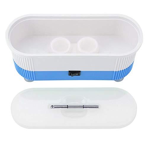 Duevin Ultraschallreiniger Ultraschallreinigungsgerät für Brillen Schmuck Wasserdicht Uhren Zahnprothesen Ultrasonic Cleaner Schmuckreiniger(Blau)