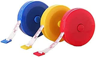 1.5m 60Inch Round Tape Measure Retractable Measuring Tape Body Measure Tape 3 Colors Random 1Pack (Red/Yellow/Blue) Sewing...