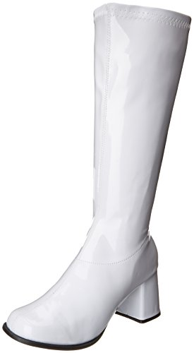 Ellie Shoes Women's Gogo Boot, White, 7 M US