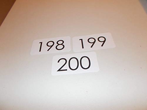 100 Preschool Numbers 101-200 Flashcards.