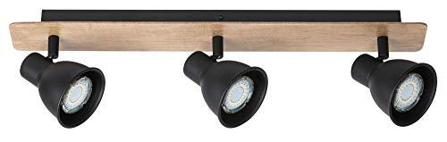 Plafondlamp zwart in industrieel design, GU10, lichtladen, plafondlamp