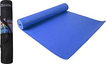 Vellora Yoga Mat 6mm Extra Large Anti Skid Yogamat for Gym Workout and Flooring Exercise with Bag Cover (Blue)