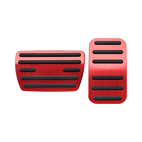 MOFANS Brake Pedal Cover Foot Pads Accelerator Pads Kit Fit for Compatible with Honda Accord Civic CRV Odyssey Jade Anti-Slip Aluminum Set
