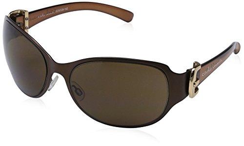 Schöne Marken Sonnenbrille für Damen von Carlo Monti mit 100% UV Schutz   Sonnenbrille mit stabiler Metallfassung, hochwertigem Brillenetui, Brillenbeutel und 2 Jahren Garantie  SCM109-142
