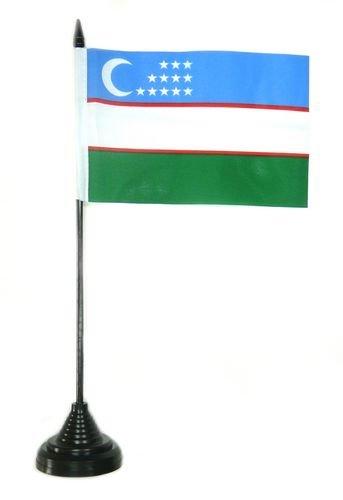 Tischflagge Usbekistan Flagge Fahne 10 x 15 cm FLAGGENMAE® Tischfahne