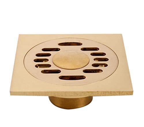 XINGSHANG Bodenablauf Duschablauf 10 cm Messing Quadratische Waschmaschine Dual-Use-Bodenablaufabdeckung Duschabflussrohr Grill Grill Bodenablauf, Smt028-D