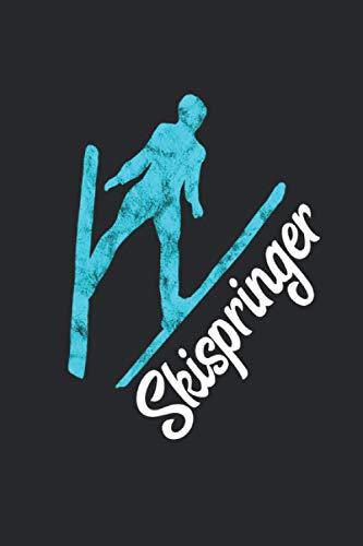 Skispringer Skisprung Pistec Skispringen: Notizbuch A5 Liniert 120 Seiten Cooles Skispringer Geschenk für Wintersportler Geschenkidee Notizheft