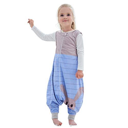 MICHLEY baby schlafsack mit Füßen mädchen und Junge Schlafstrampler Vierjahreszeiten Braun 4-5 Jahre