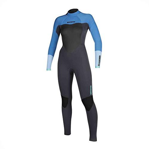 Mystic Watersports - Surf KiteSurf & Windsurfing Dames Star 5/3mm Wetsuit met Back Zip - Menthol Blue - Thermal Warm Heat